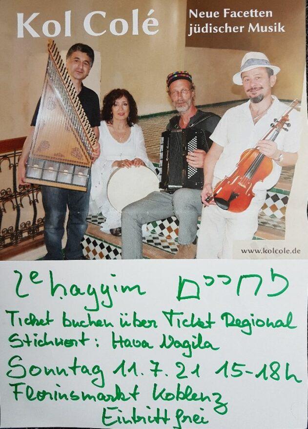 MENTSH 20210 - Jüdisches leben in Deutschland - Plakat Kol Colé 11.7.21