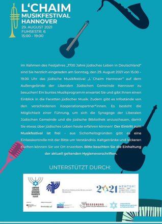 MENTSH 20210 - Jüdisches leben in Deutschland - LeChaim Hannover